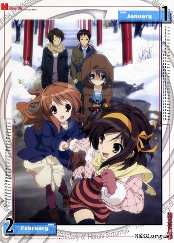 The Melancholy Of Haruhi Suzumiya - Official Calendar 2009